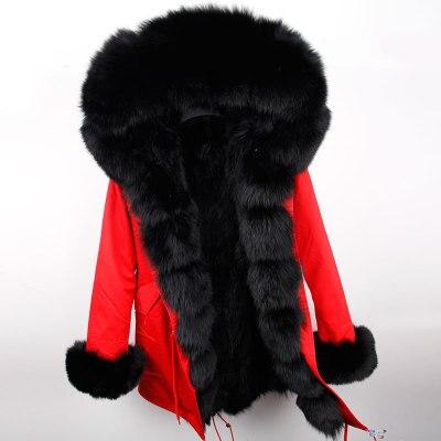 Parka Manteau 3 Longue Fourrure Casual Coréenne Outwear D'hiver 8 11 6 2 9 Naturelle 5 Femmes 7 De Chaud 12 4 Réel L'intérieur Parkas 1 17 Épais Veste Col 15 10 À 16 Fox 13 Renard 14 Y81qE5nwE