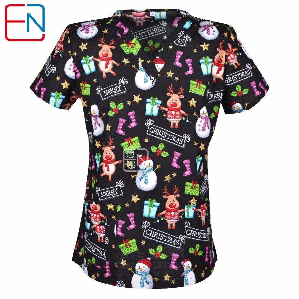 aliexpresscom buy 5 designs in hennar brand medical scrub tops surgical scrubsscrub uniform 100 print cotton christmas design medical uniforms from