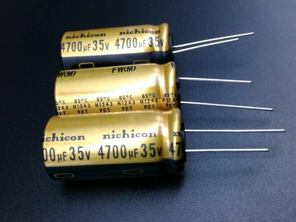 Купить с кэшбэком 2019 hot sale 10pcs/30pcs Nichicon FW 4700uF/35V genuine stock 4700uf 35v for capacitor 18*35.5 free shipping