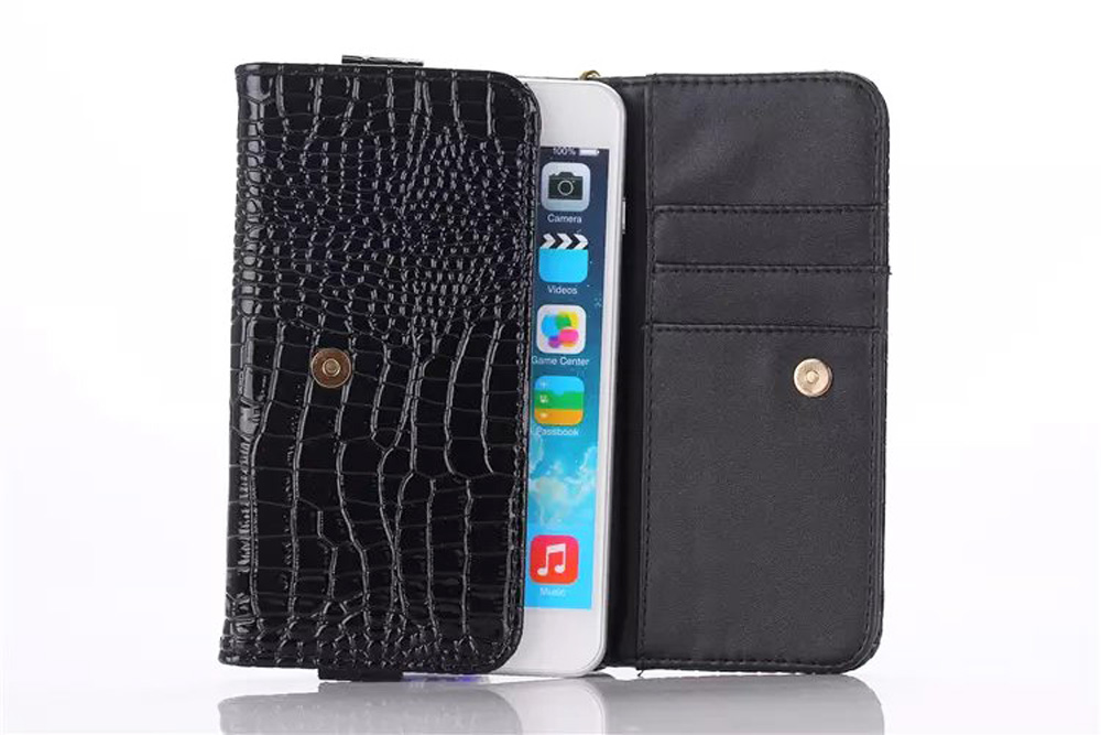 Lady Hand Strap Synthetic Mobile Phone Leather Case Card Wallet Pouch Bags For Lenovo A6600 Plus,ZTE Blade L2 D6 V6 S7 X5