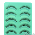 5 Pares/set New Handmade Natureza Bonita Curto Cruz Pestanas Falsas Diário Falso Lashes Eye Makeup Tools