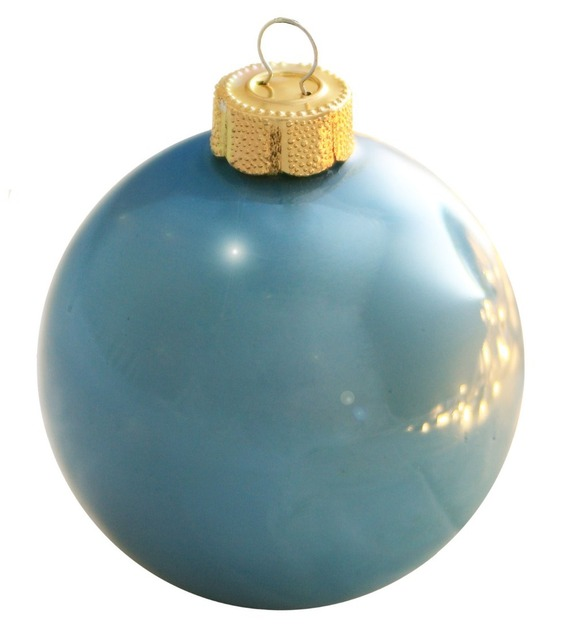 free shipping event party bauble ornaments christmas xmas tree glass balls decoration 67mm baby blue ball - Light Blue Christmas Ornaments