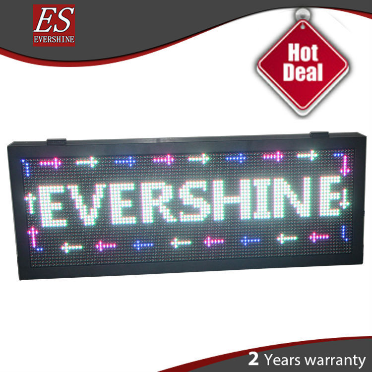 Outdoor P10 RGB/7 color Video LED Display Sign With Edge Shenzhen Factory bus video led sign p5 flashing led route sign in china