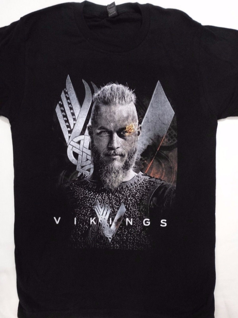 Order T Shirts Short Sleeve Men Printing Vikings History Tv Show O-Neck Shirt