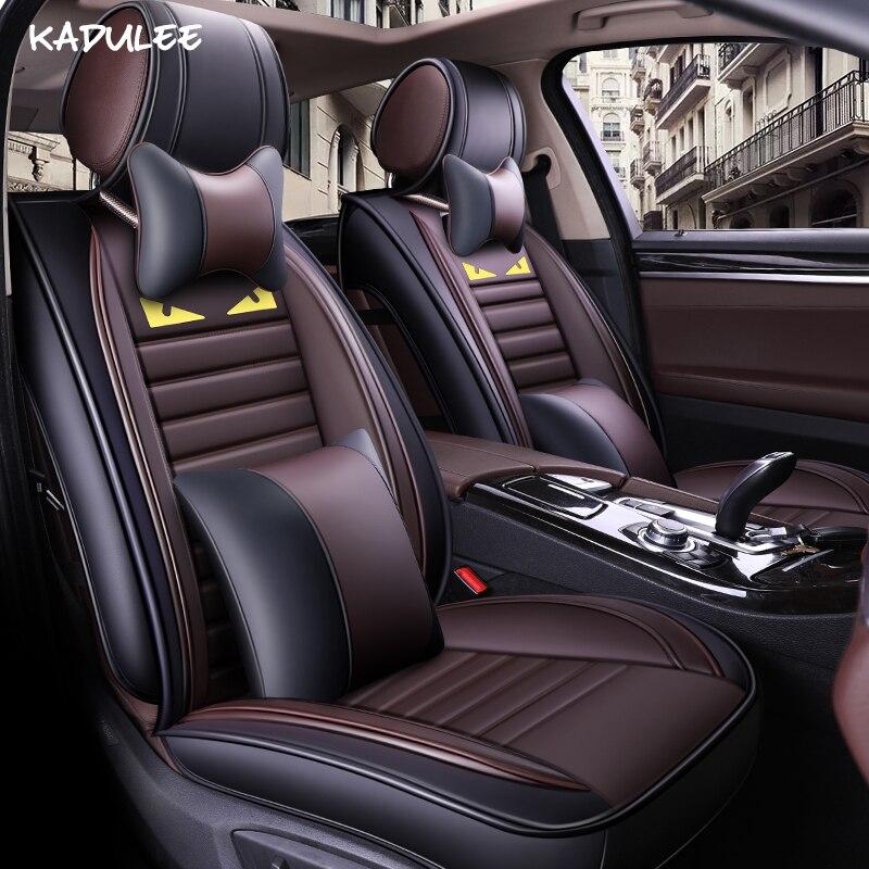 Housses de siège auto KADULEE pour lancia delta bmw e39 skoda karoq vw polo kia rio 4 lada 2114 protection de siège de voiture style de voiture