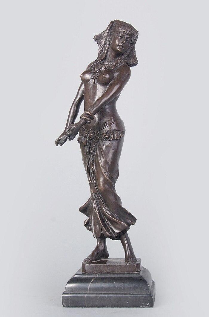 arts crafts copper modern art dance girl sculpture indian dancers