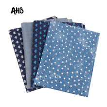 AHB 40*50CM Thick Denim Fabric Hollow Out Material DIY Jeans Skirt Sewing Quilt Patchwork Handmade Crafts Supplier