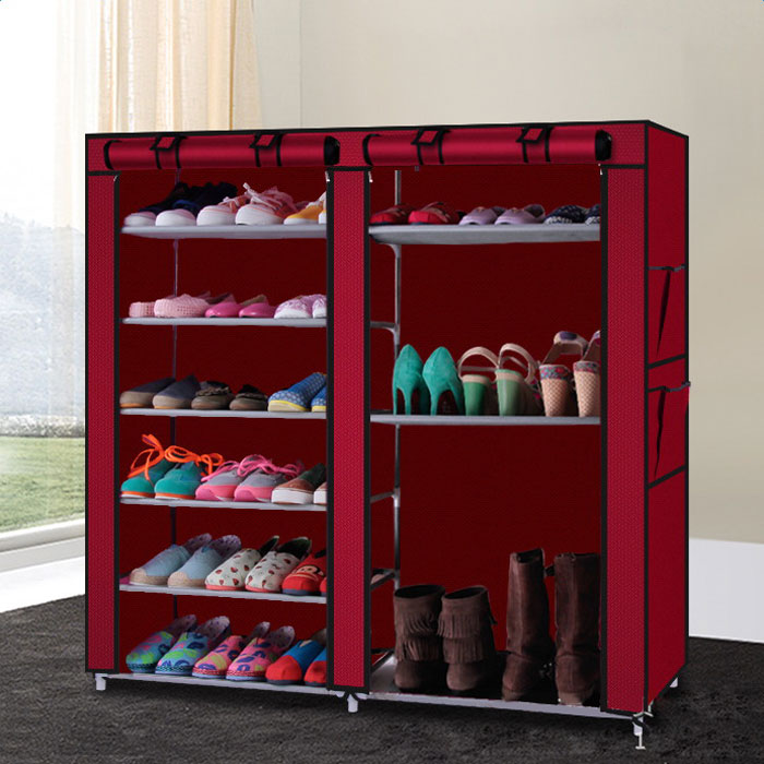 DIY Shoe Cabinet Burgundy Dropshipping dropshipping