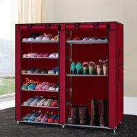 DIY Shoe Cabinet Burgundy Dropshipping