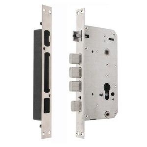 Image 4 - RAYKUBE elektronik dış kapı kilidi parmak izi/şifre/kimlik kartı/mekanik anahtar 4 In 1 açılış ev ofis güvenli kilit