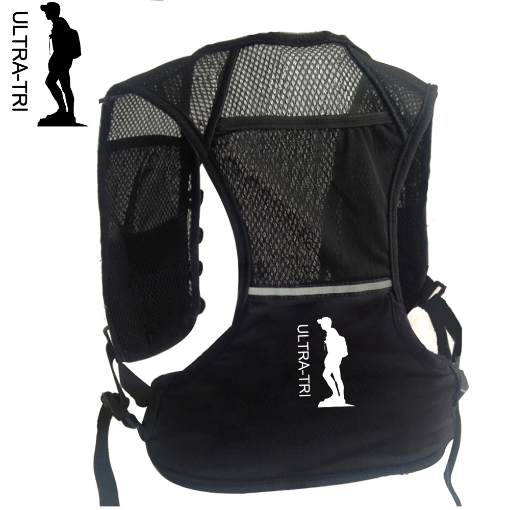 ULTRA-TRI Hydration Trail Running Backpack Vest Unisex Lightweight Marathon Mochila Run Bag 2.5L For Men Women Children Adults