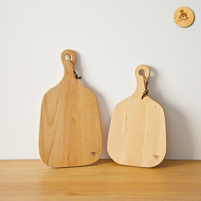 Creative Baking Tool Bread Pizza Wooden Chopping Board With Stylish Handle  Meat Fish Fruit Vegetable Cutting