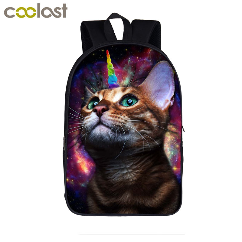 Cartoon Dog Cat Backpack for Teenagers Children Animal School Bags for Girls Boys Bagpack Piggy Kids Book Bag Men Travel mochila купить