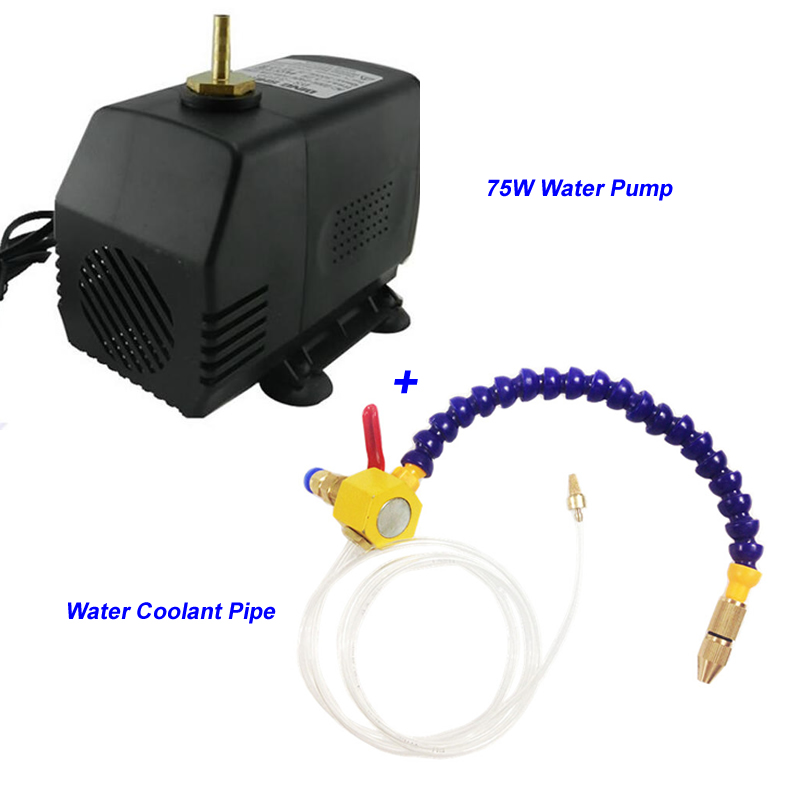 Engraving Machine 75W 3.2m Water Pump + Magnet Water Oil Coolant Pipe Hose Cooling Tube For CNC Router Tools