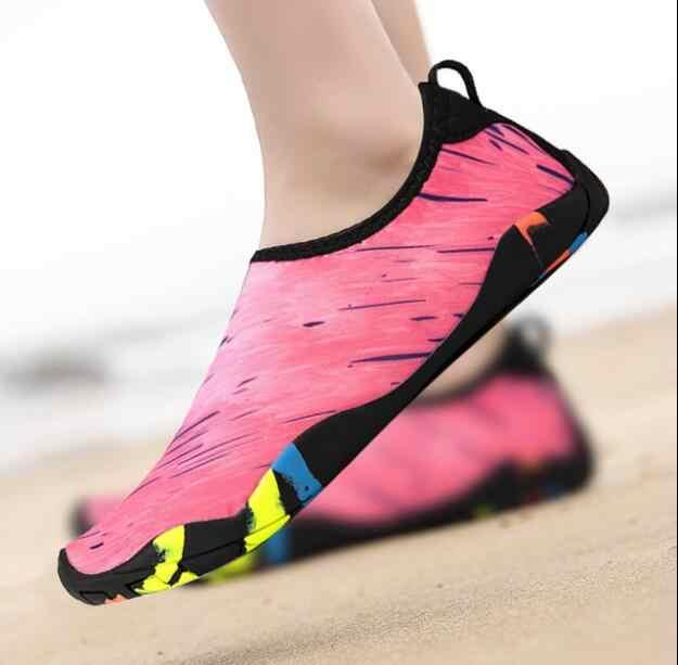 2019 yeni Erkekler Açık Spor Ayakkabı yüzme havuzu ayakkabı kadınlar balıkçılık aqua su ayakkabı dalış sığ yalınayak plaj ayakkabısı