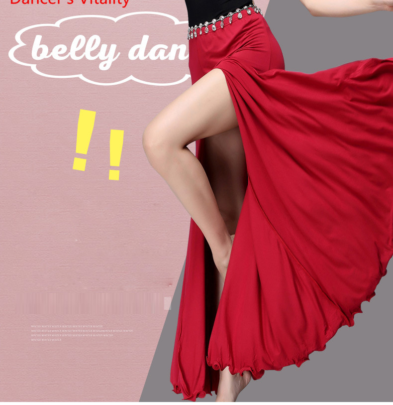 Sexy Belly Dance Modal Long Skirt Side Slit 2018 Free Shipping High Quality New Bellydance Show Skirts