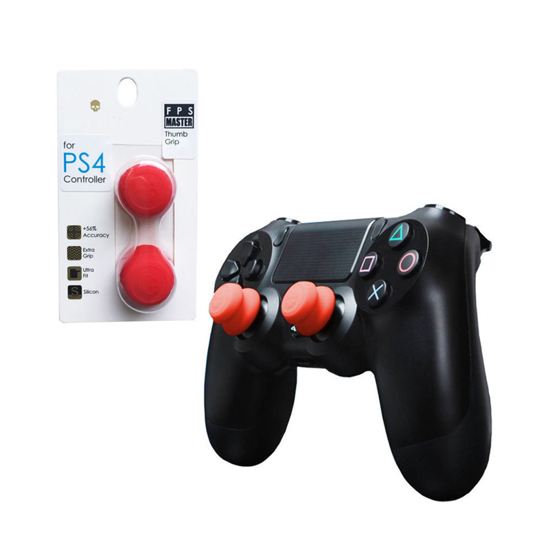 For Sony Playstation 4 Controller & Co. FPS Master Silicone Analog Thumb Stick Caps Skull Thumbstick For PS4 Gamepad