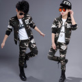 Children girls clothing set autumn teenage boys sport suit camouflage 2pcs school kids clothes tracksuit 4~13 years Boys clothes