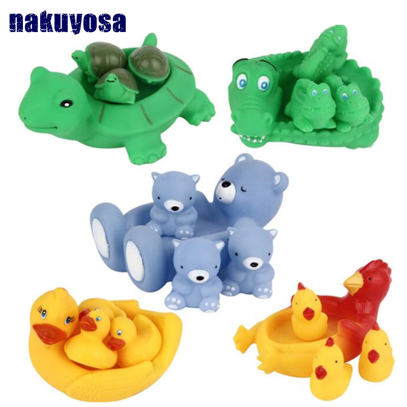 Lovely Crocodile Duck Turtle Frog Animals Water Toys