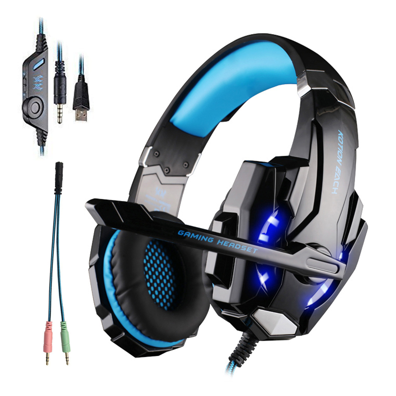 Computer PC PS4 Headset Gaming Headset Gamer Earphone Led Gaming Headphone With Microphone For Computer PlayStation 4 Tablet PC 3 5mm wired headphone game gaming headphones headset with microphone mic earphone for ps4 sony playstation 4 pc computer hot