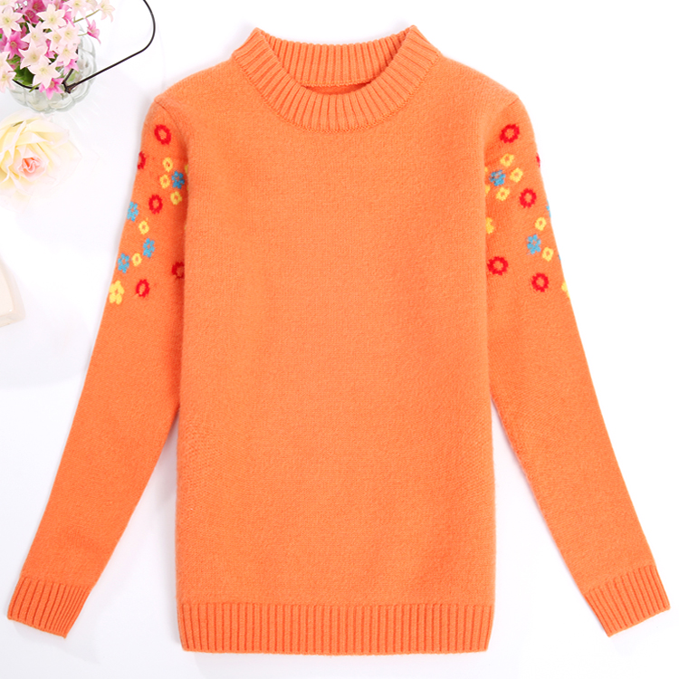 100% pure wool sweater 2016 new childrens clothing girls thick sweater round neck sweater baby sweater