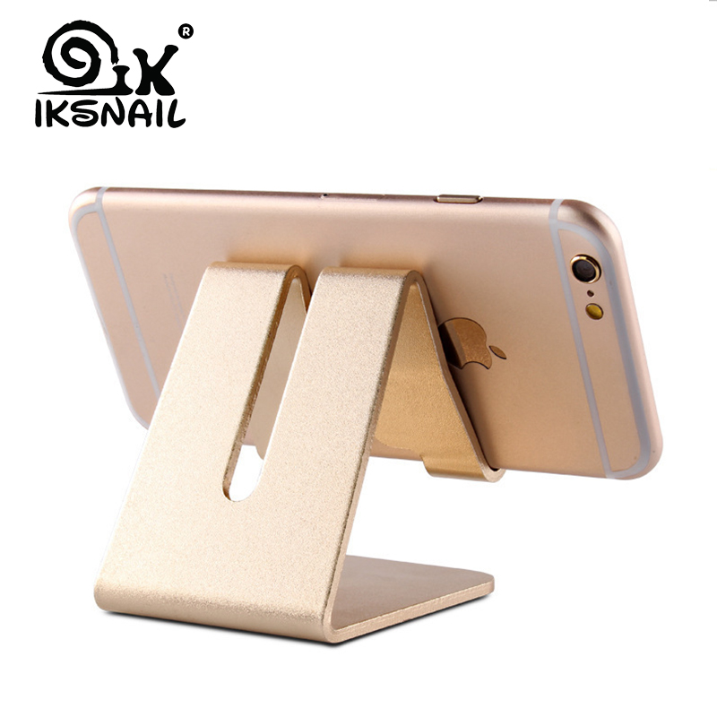 IKSNAIL Mobile Phone Holder Stand Aluminium Alloy Metal Tablet Desk Holders & Stands For IPhone X/8/7/6 Plus Samsung Phone/ipad