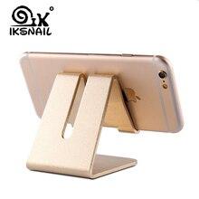 IKSNAIL soporte para teléfono móvil aleación de aluminio Metal Tablet escritorio soportes y soportes para iPhone X/8/7/6 Plus Samsung Phone/ipad