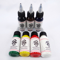 High quality 14 color permanent tattoo pigment tattoo ink embroidery machine 30ml beauty tools