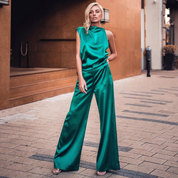ADYCE 2019, новинка, летний женский облегающий Модный комплект, Vestidos, 2 предмета, зеленый топ без рукавов и штаны, комплект знаменитостей для вече...