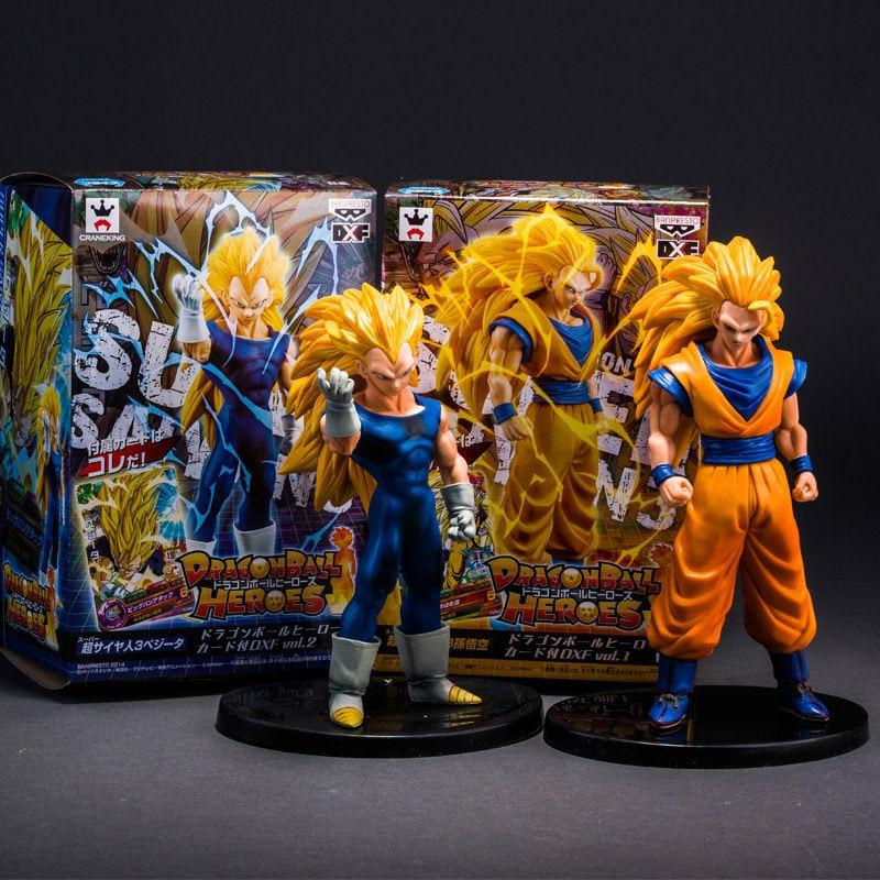Dragon Ball Z Heroes Vol.2 Super Saiyan 3 VEGETA and Goku PVC Figure Collectible Toy 6.7 16CM Free Shipping james robinson superman nightwing and flamebird vol 2