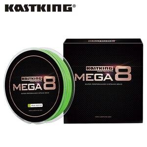 KastKing Mega8 Strong 137/274/457M 10-80LB 8 Strand Weaves PE Braided Fishing Line Multifilament Fast Cutting Water Low Memory