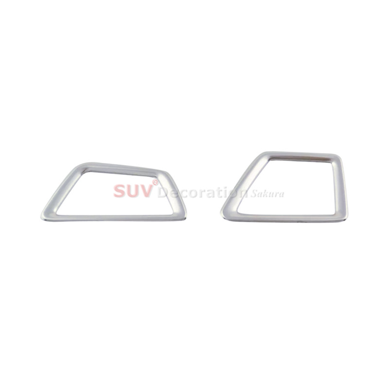 for Left hand drive car Accessories Stainless Interior Car Upper Air Vent Outlet Trim for Peugeot 3008GT 3008 GT 2016 2017