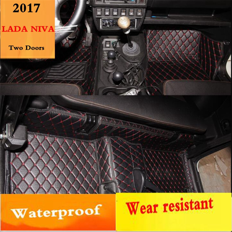 waterproof Car floor mats for Lada 4x4 2121 Niva lada nive 4x4 2121 2123 2115 2110 2111 2112 <font><b>2113</b></font> 2114 2115 2116 2117 2131 niva image