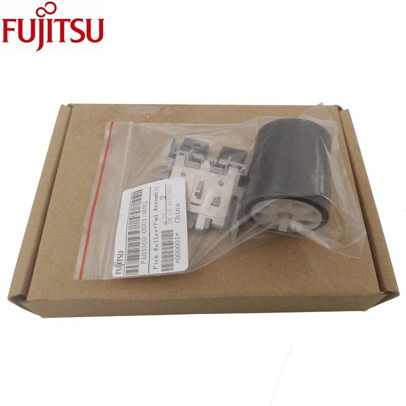 Pick Roller + Pad Assembly Fujitsu Fi 5110C fi 5110EOX fi 5110EOX fi 5110EOXM S500 S500M S510 S510M PA03360 0001 PA03360 0002pick rollersroller assemblyfujitsu pick roller -