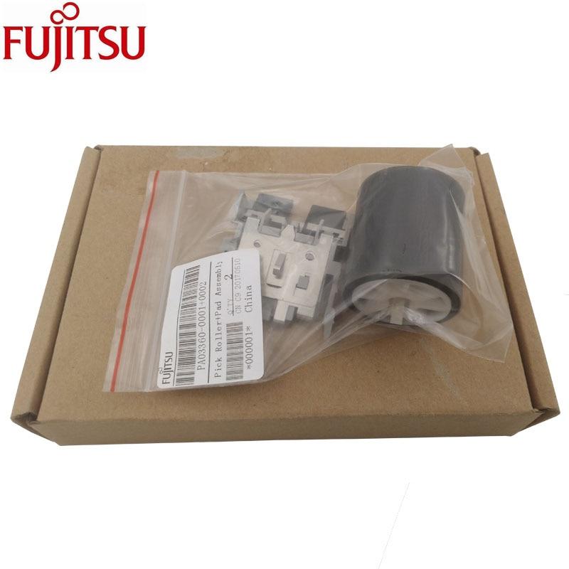 Pick Roller + Pad di Montaggio Fujitsu Fi-5110C fi-5110EOX fi-5110EOX fi-5110EOXM S500 S500M S510 S510M PA03360-0001 PA03360-0002