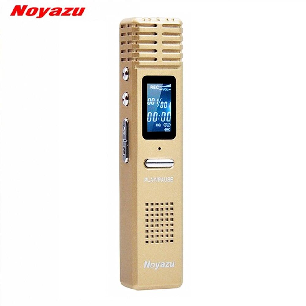 NOYAZU X1 8 GB Enregistreur Vocal Numérique long temps 550 Heures Capacité D'enregistrement Mini USB Numérique MP3 Lecteur Audio Dictaphone cadeaux