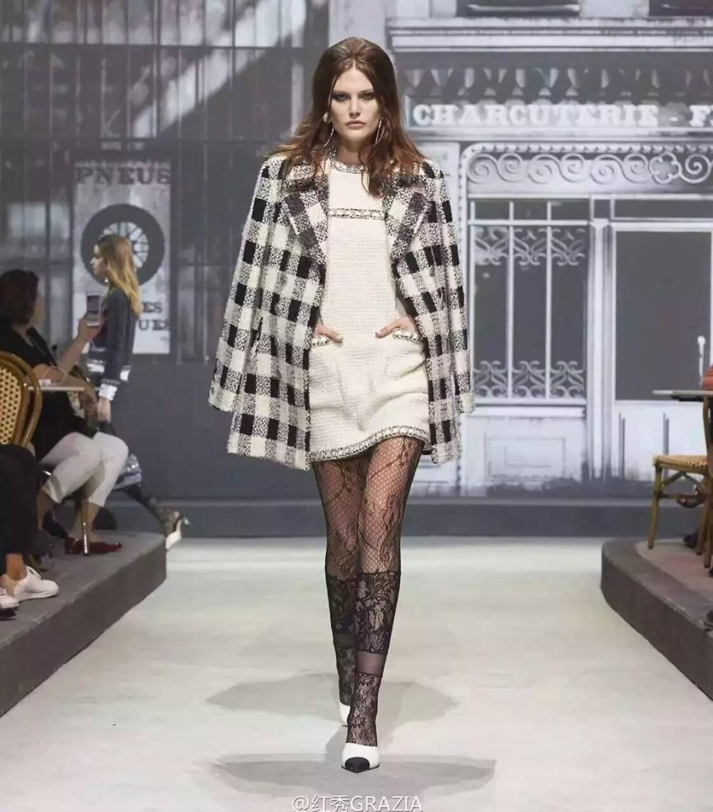Tweed 6xl De Bureau Taille Blanc Incroyable Plus Élégant Robe Festa Série Paris Hiver Femmes Xs Dans Rome Custom Robe qznUO0Z