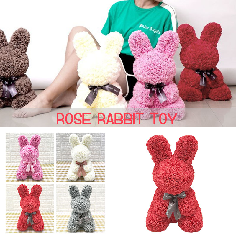 PE Girlfriend Birthday Rabbit Dolls Artificial Rose Decorations Rose Rabbit Lovely Simulated Love