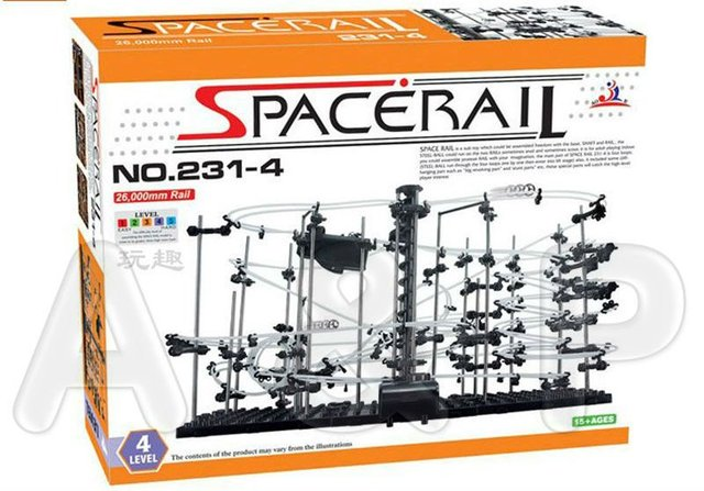 Toy Roller Coaster, Space Rail Level 4, Space rail Warp Drive, Space for Speed, Interplanetary trajectory, Funny Child Rail Toys