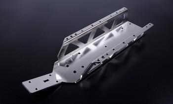 Chromed big bottom chassis for 1/5 hpi rovan king motor baja rc car gas parts