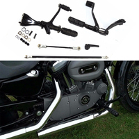 For Sportster XL1200 XL883 Forward Controls Foot Pegs Levers Footrest Footpeg Linkages XL 883 1200 Iron Custom Superlow