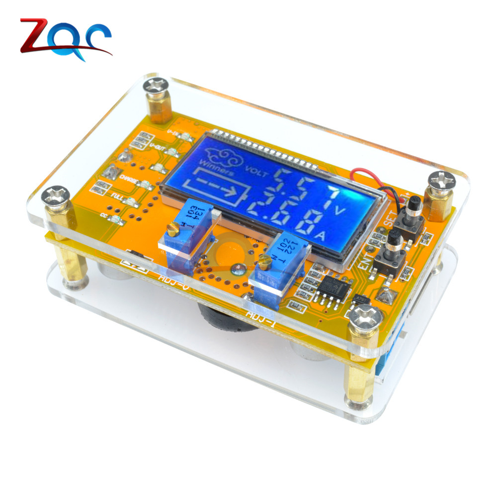 5A Adjustable CC CV LCD Display Step Down Buck Charge Module Panel LED Driver Power Converter Board Module With case