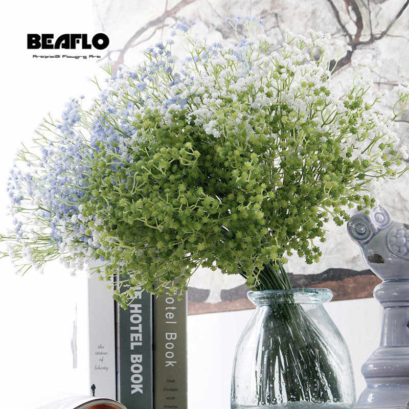 1 PC Buatan Gypsophila Bunga Gypsophila Palsu Silikon Tanaman untuk Pernikahan Rumah Hotel Dekorasi Pesta 5 Warna