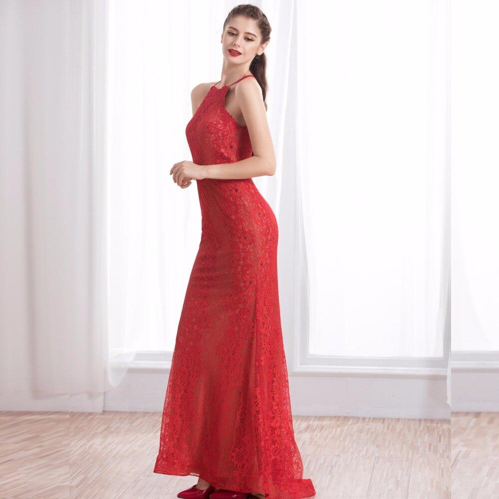 Langen Roten Elegante Spitze Meerjungfrau Roten Abendkleid 2017 ...