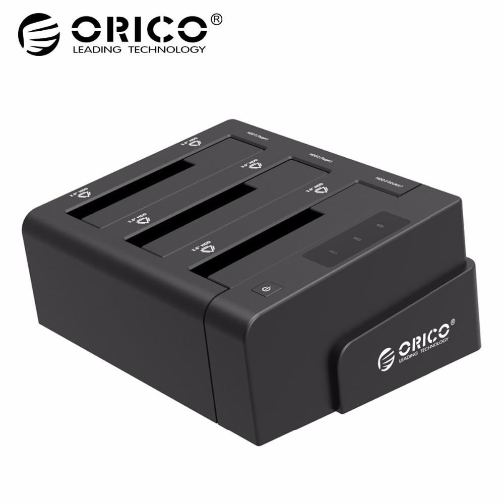 ORICO 6638US3-C USB инструмент SATA 3,0 Бесплатная 3,5 ''/2,5'' Off-line клон Hdd док-станция-черный