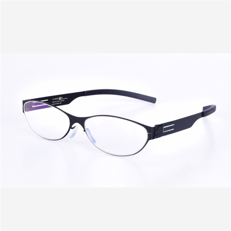 Top Grade Quality Stainless No Screw Glasses Frames Women Reading Computer Eyeglasses Myopia Optical Eyewear with Clear Lenses