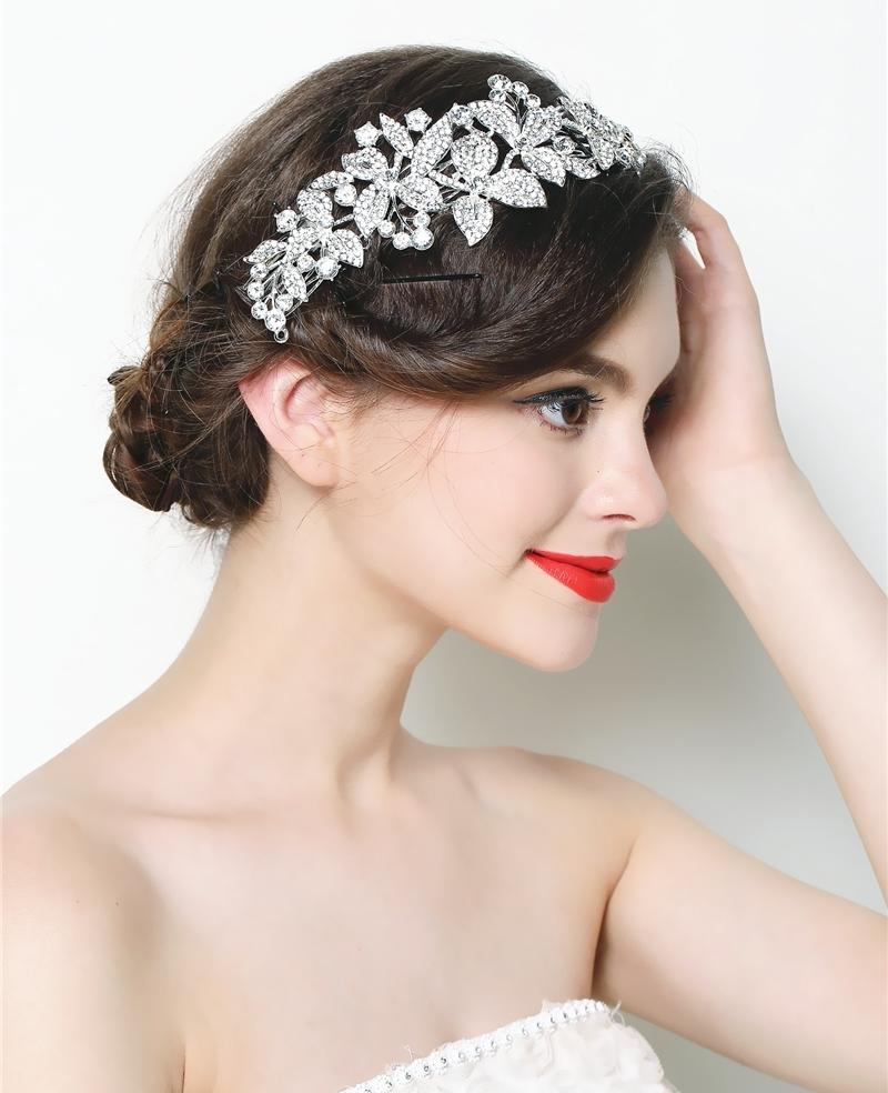 Aliexpress Com Buy Bridal Hair Comb Clip Crystal Flower
