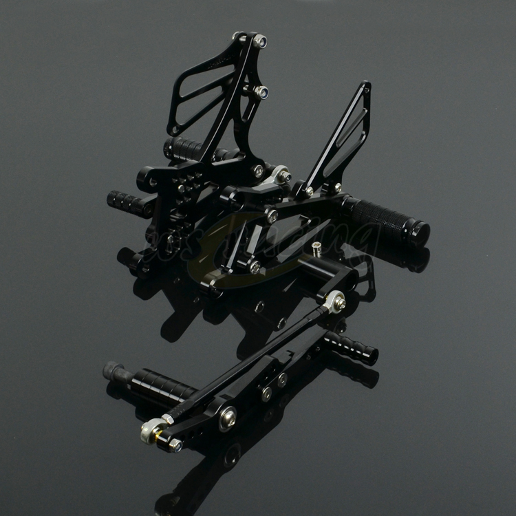CNC Adjustable Motorcycle Billet Foot Pegs Pedals Rest Footpegs Rearset For YAMAHA YZF R1 2007 2008 07 08 Motorbike