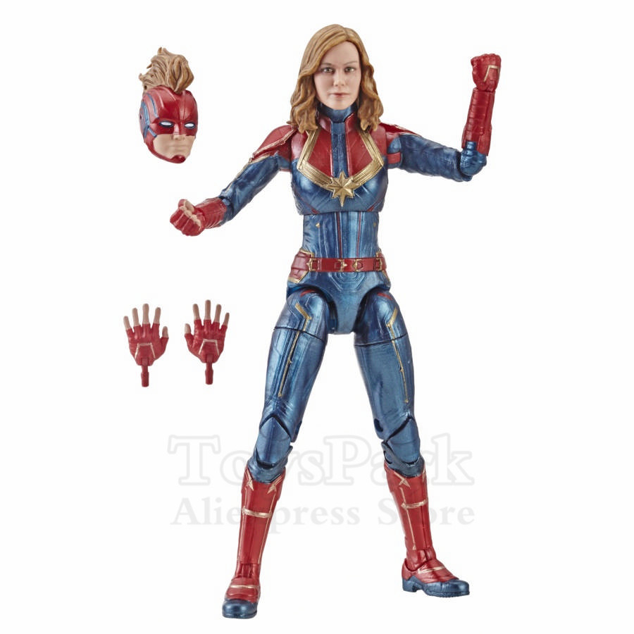 Marvel Legends 2019 Movie Captain Marvel Nick Fury Star Force Gargoyle Genis Vell TALOS 6 Action Figure Cat Jacket Kree Sentry