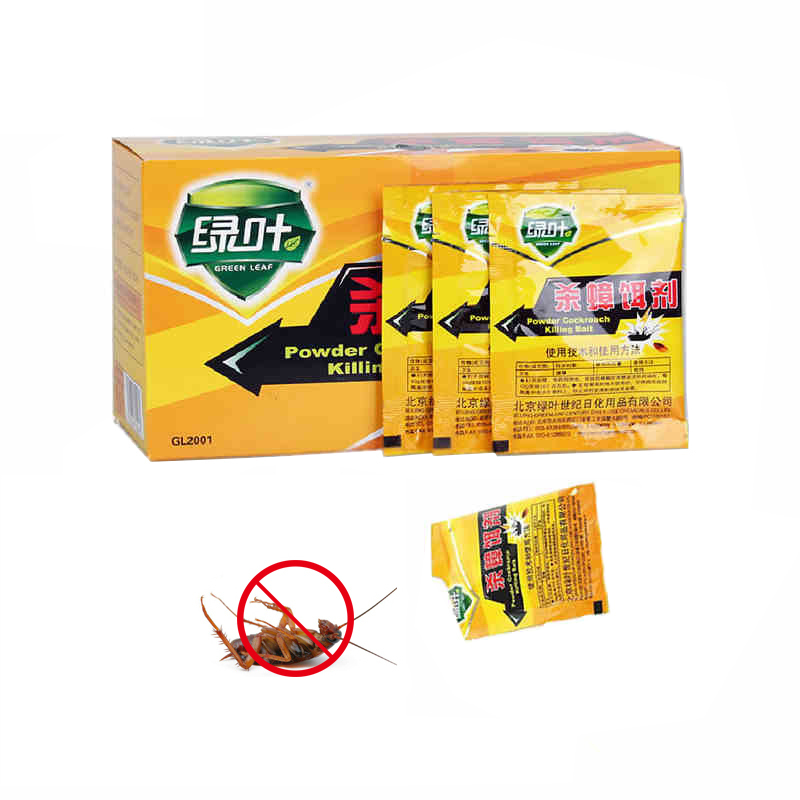 20PCS/Lot Cockroach Killing Bait Powder Insecticide Insect Killer Pest Control Kitchen Restaurant Bugs Environmentally Friendly